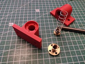 3018 DIY CNC: T8 Leadscrew / Anti Backlash / Spring-loaded nut Bearing Block for Y Axis