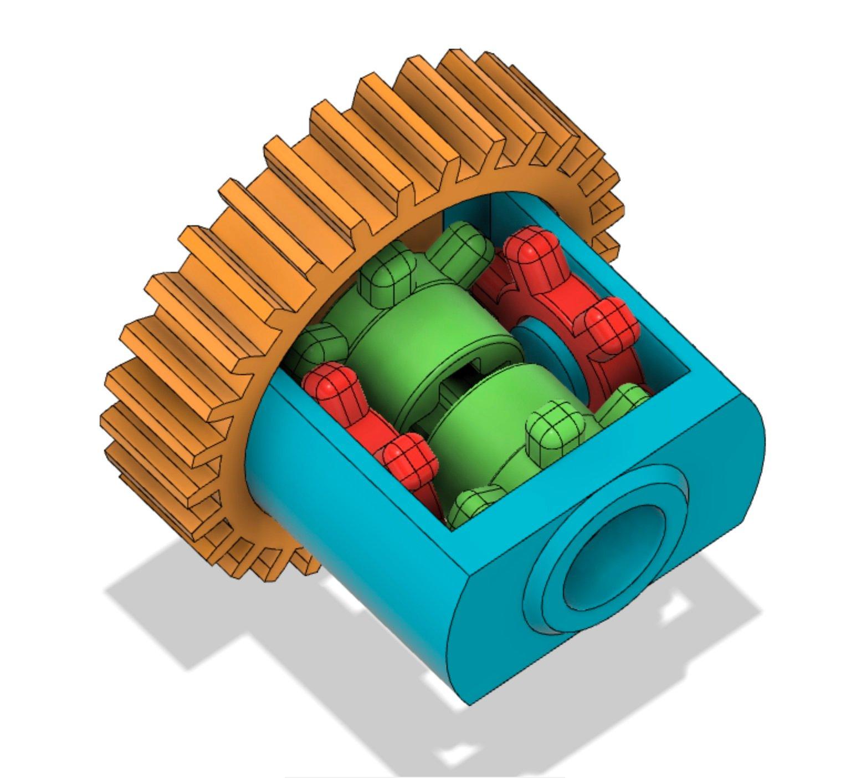 R/C car differential - lego axle