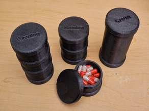 Pill Containers, Stack-able