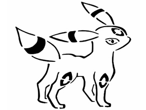 Umbreon stencil 2