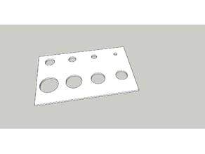 Simple hole calibration test