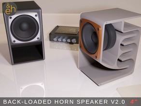 "4"" Back Horn Speaker V2.0 - Bluetooth, Active, Passive"