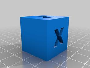 XYZ 24mm Calibration Cube