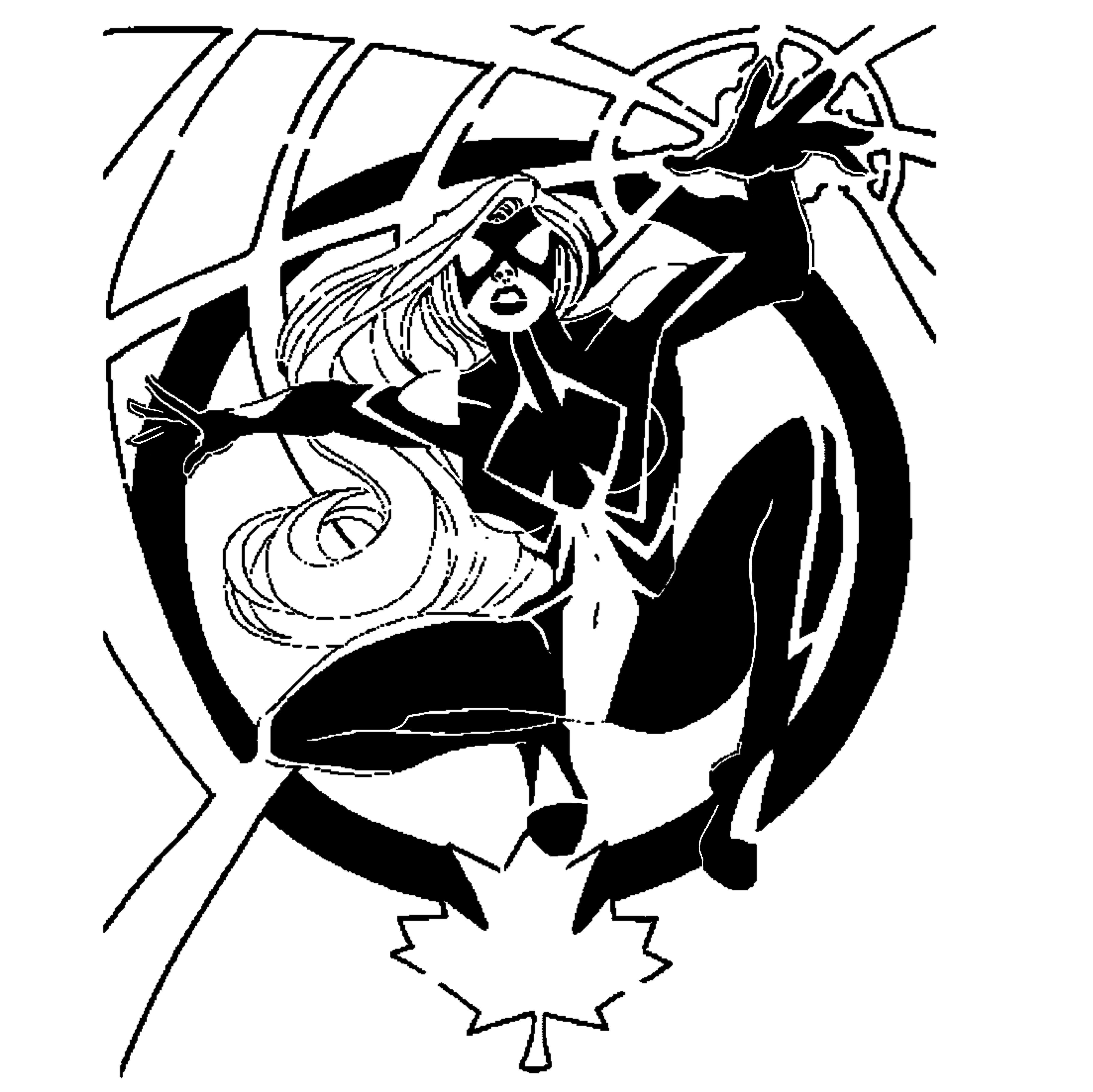Spider Woman stencil
