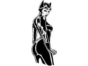 Cat Woman stencil 3