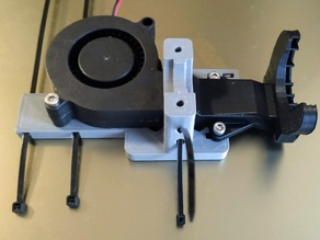 HyperCube HotEnd mount with cable guide and height adjustable fan duct nuts
