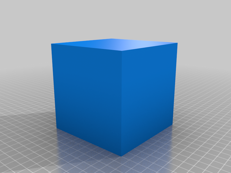100x100x100 mm Simple Test Cube