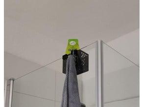 Duschutensilienhalter mit Handtuchhaken 10mm