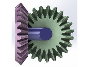Straight Bevel Gear transmission-2 gears