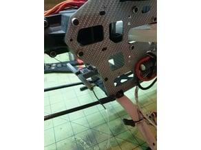 Trex-500 rear mount plate for Frsky R-XSR