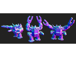 Small scale Space Orc Slayer suit mechs