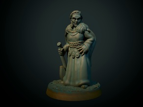 Norse Maiden 28mm (supportless, FDM friendly)