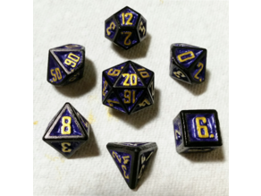 D&D Dice Set with Raised Numbers for Painting (v2)