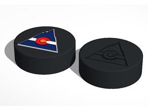 Colorado Rockies NHL Hockey Puck Logo