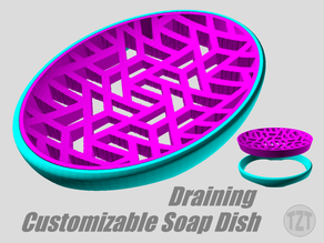 Customizable Draining Soap Dish with Decorative Insert