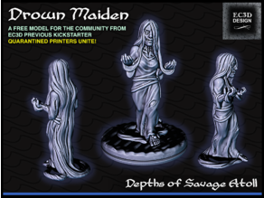 Drown Maiden - 28mm Gaming - Depths of Savage Atoll