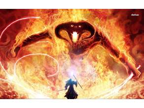 Lord of the Rings - Gandalf vs Balrog Lithophane 1