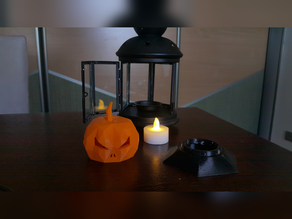 IKEA lantern stand for Low Poly pumpkin