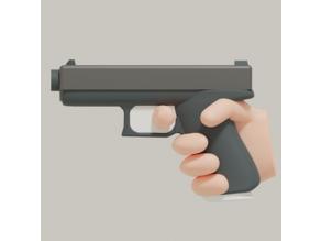 Modern pistol scaled for 28mm tabletop