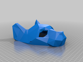 Low Poly Cat Mask