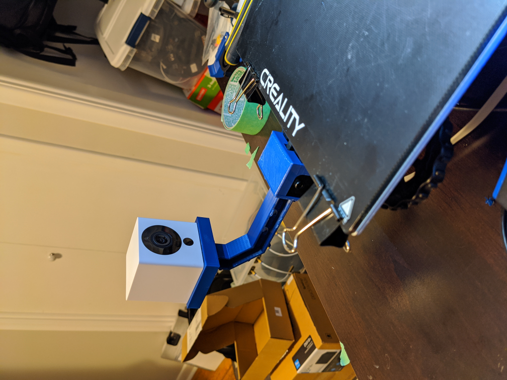 Wyze Cam V2 Rail Mount Ender3 Pro