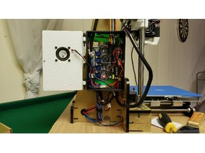 anet / anet a8 skr e3 motherboard adapter, case, and cr-10 display mount