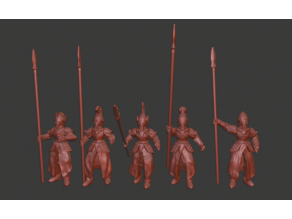 Elf Infantry / Spearmen Miniatures