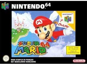LITHOPHANE Cover Super_Mario_64 Nintendo N64
