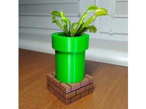 Mario pipe flower pot