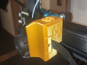 Sidewinder X1 extruder cover + cable holder