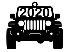 Jeep JL silhouette hanging decoration