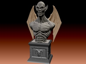 Halloween Demon Bust