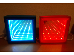 A customizable infinity mirror box with a led strip