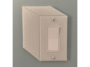 Cubic Illusion Light Switch Cover (Rocker)
