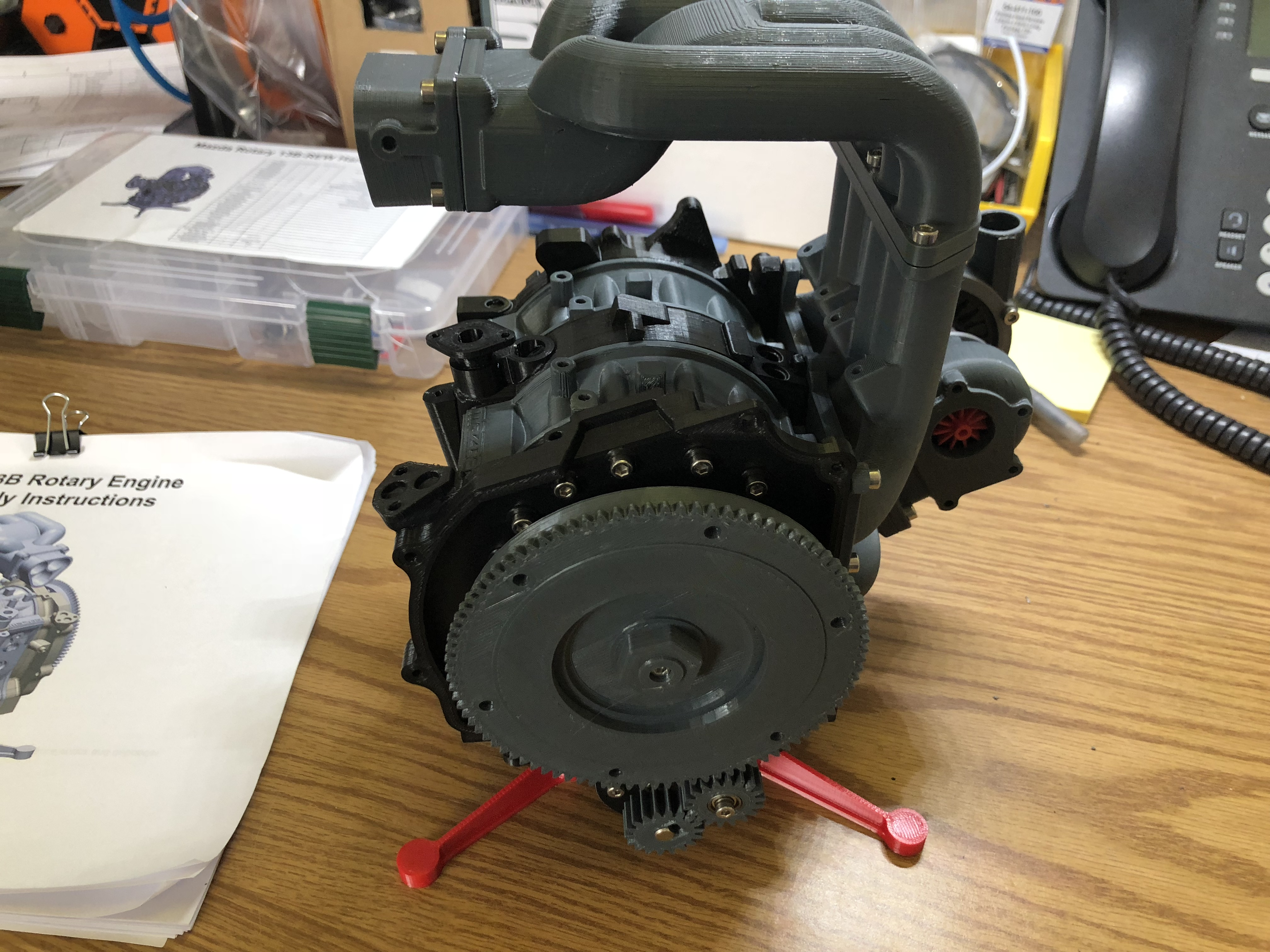 Mazda RX7 Wankel Rotary Engine 13B-REW - Working Model by Keepars