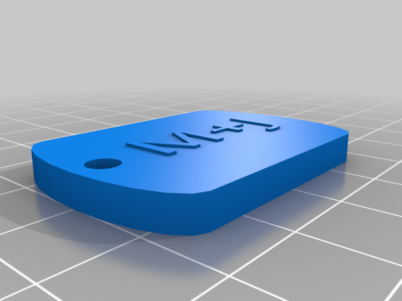 Keychain version 1 with raised text