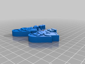 "My SCustomized Heart Shaped Buttons ""Words from the Heart"""