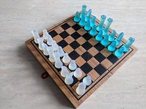 Solid single-print chess set for resin printer
