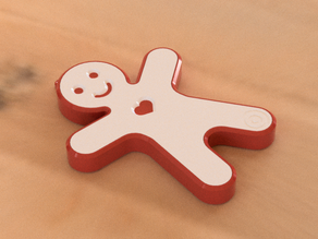 Gingerbread Man Speaker Christmas Gift for Family and Friends