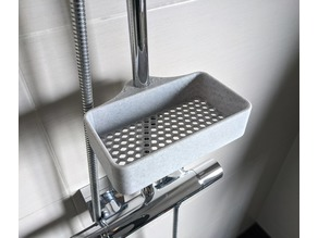 Honeycomb Shower Shelf (Shower Pole Mount)