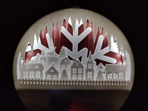 Glowing Christmas town wreath
