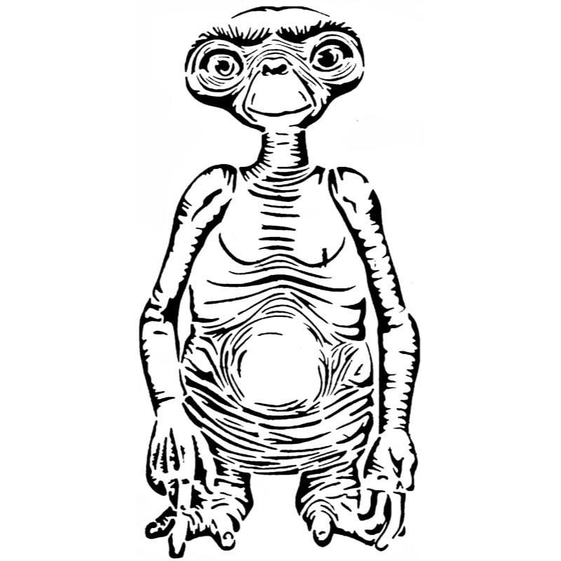 E.T stencil