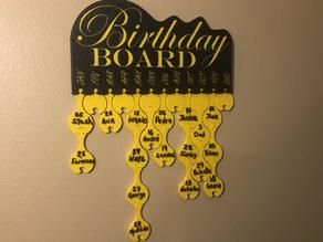Birthday Board - Prusa contest Winner