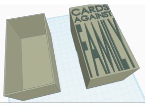 Box for Cards Against Humanity- Family Edition - Small Card version