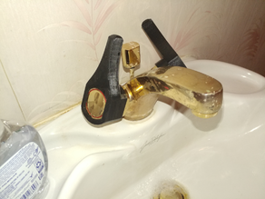 Levers for faucet with rounded knobs