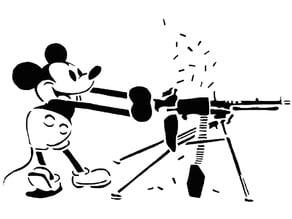 Mickey Mouse stencil 4