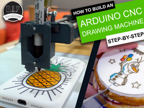 Easy 3D Printable CNC Drawing Machine - Draw on Cakes, Phones, Paper, Shirts | Arduino GRBL Plotter