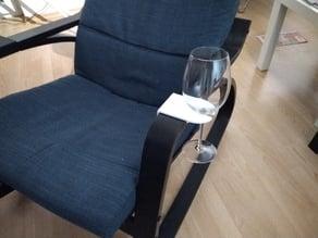 IKEA POÄNG wine glass holder