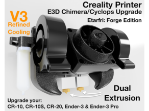 Dual Extrusion for Creality Printer - Chimera / Cyclops Mount
