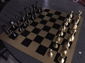 Simple chess pieces